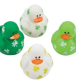 Mini Shamrock Rubber Ducky