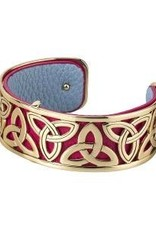 GP & Leather Narrow Trinity Bangle