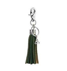 Green Tassel Trinity Knot Bag Keyring