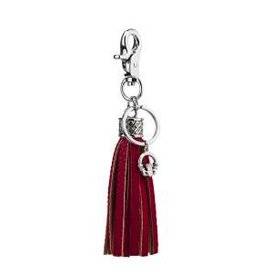 Red Tassel Claddagh Bag Keyring