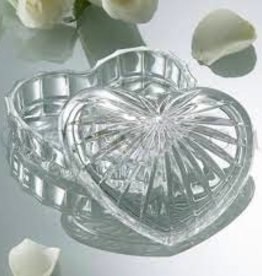 Galway Crystal Heart Trinket Box