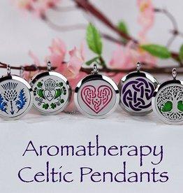 Aromatherapy Pendant (Celtic Heart Knot)