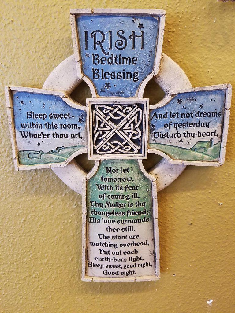 Irish Bedtime Blessing Cross