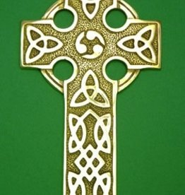 Large Brass Celtic Cross