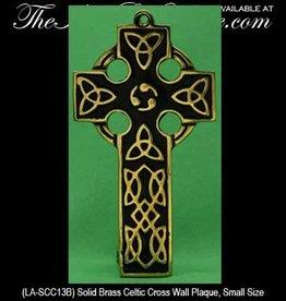 Small Black/Brass Celtic Cross