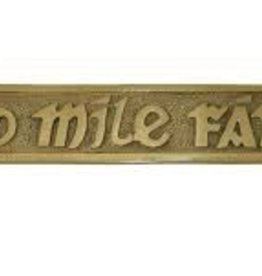 Cead Mile Failte - Medium Brass Wall Plaque
