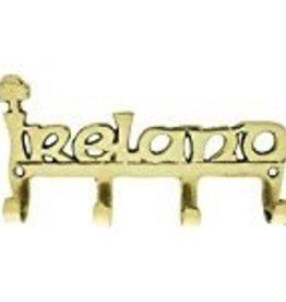Large IRELAND Brass Key Rack