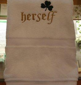 White Herself Towel