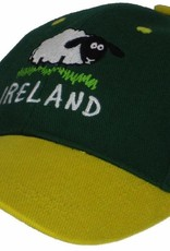 Kid's Sheep Ireland Baseball Cap, Bottle Green, O/S