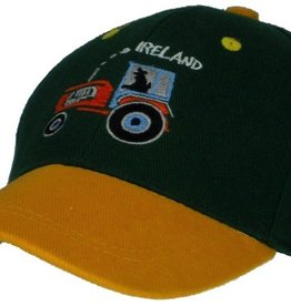 Kid's Tractor Ireland Baseball Cap, Bottle Green, O/S