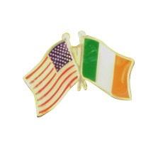 US & Ireland Friendship Pin