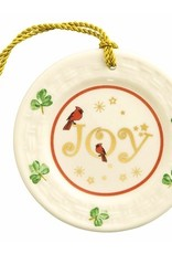 Belleek Joy Plate Ornament