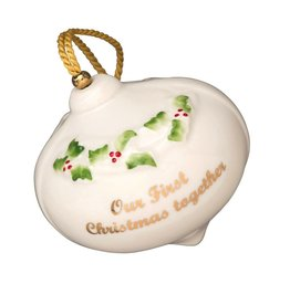 Belleek Our First Christmas Together Ornament