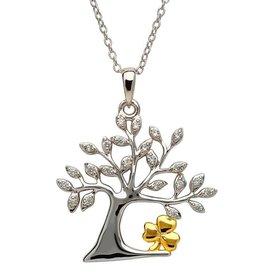 Tree of Life Shamrock Pendant