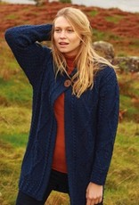 Aran Woollen Mills Unlimited Long Cardigan with One Button