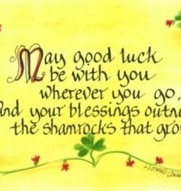 LPG Greetings, Inc. May Good Luck Be With You Plaque