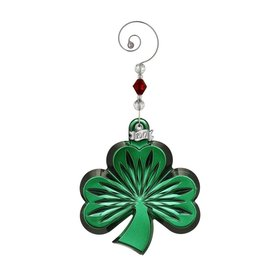 Waterford Green Shamrock Ornament 2017