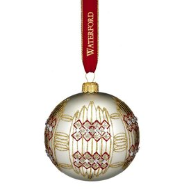 Waterford Dungarvan Silver Ball Ornament 2017