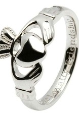Ladies Claddagh Comfort Fit Silver Ring