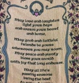 Claddagh Irish Blessing Throw