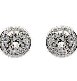 S/S Swarovski Halo Earrings