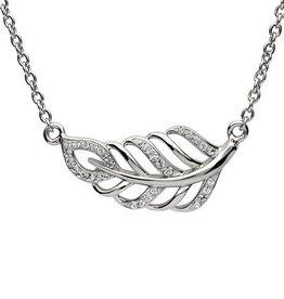 S/S Swarovski Leaf Necklace