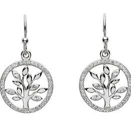 S/S Swarovski Tree of Life Earrings