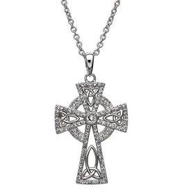 S/S Swarovski Celtic Cross Pendant