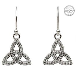S/S Swarovski Trinity Knot Drop Earrings