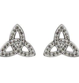 S/S Swarovski Trinity Knot Stud Earrings
