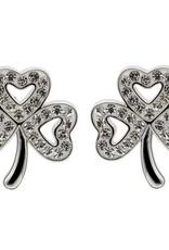 S/S Swarovski Shamrock Stud Earrings