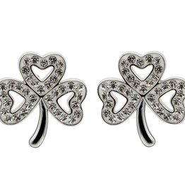 S/S Swarovski Shamrock Stud Earrings