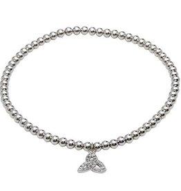S/S Swarovski Trinity Charm Bracelet