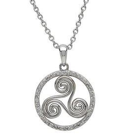 S/S Swarovski Triscal Celtic Pendant
