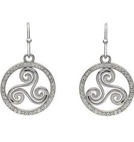 S/S Swarovski Triscal Celtic Earrings