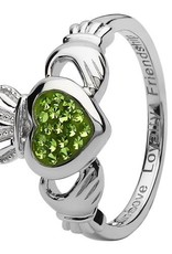 S/S Swarovski Claddagh Ring
