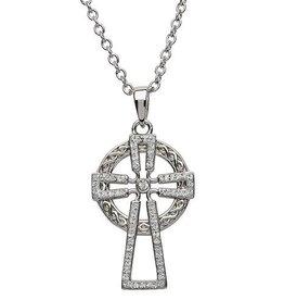 S/S Swarovski Celtic Cross