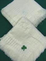 Baby Blanket w/ Green Shamrock