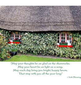 Irish Christmas Card - Thatched Cottage - Boxed Set of 10