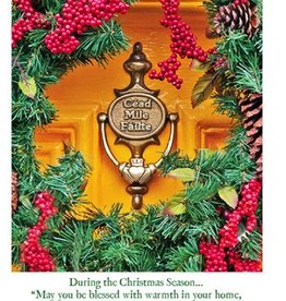 Irish Christmas Card - Cead Mile Failte Wreath - Boxed Set of 10