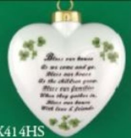 """Bless Our House"" Puffed Heart Ornament"