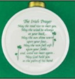 """Irish Prayer"" Round Ornament"