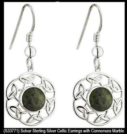 S/S Connemara Marble Drop Earrings