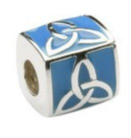Blue Enamel Trinity Bead