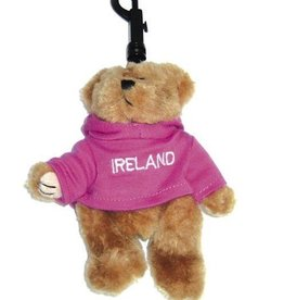 Pink Ireland Bear Keyring