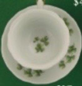 Shamrock Teacup & Saucer Ornament