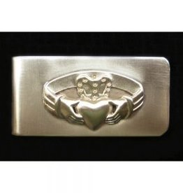 Claddagh Money Clip - Brushed Pewter