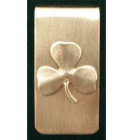 Shamrock Money Clip - Brushed Pewter