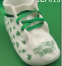"""Irish Baby"" - Shamrock Baby Shoe Ornament"