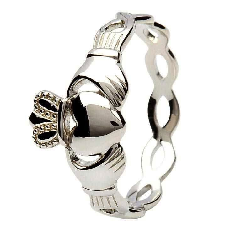 Open Weave Claddagh Ring